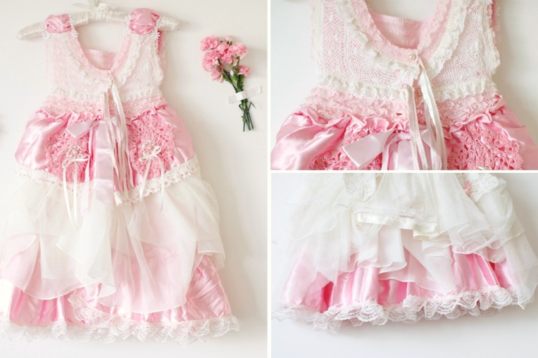 Couture Flower girl Dress Vicky-Lee