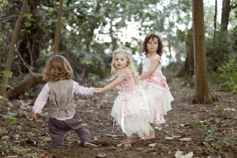 Couture Flower girl Dresses Vintage Pageboy Vests -