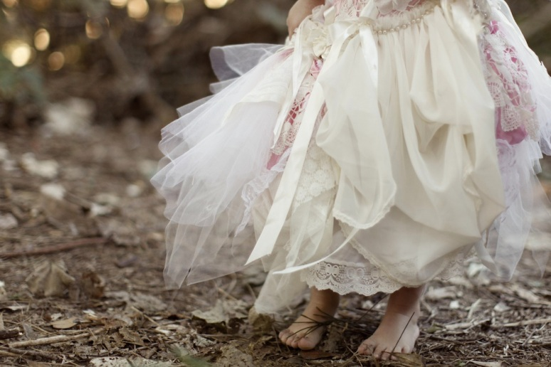 Couture Flower girl Dresses , Pettiskirt