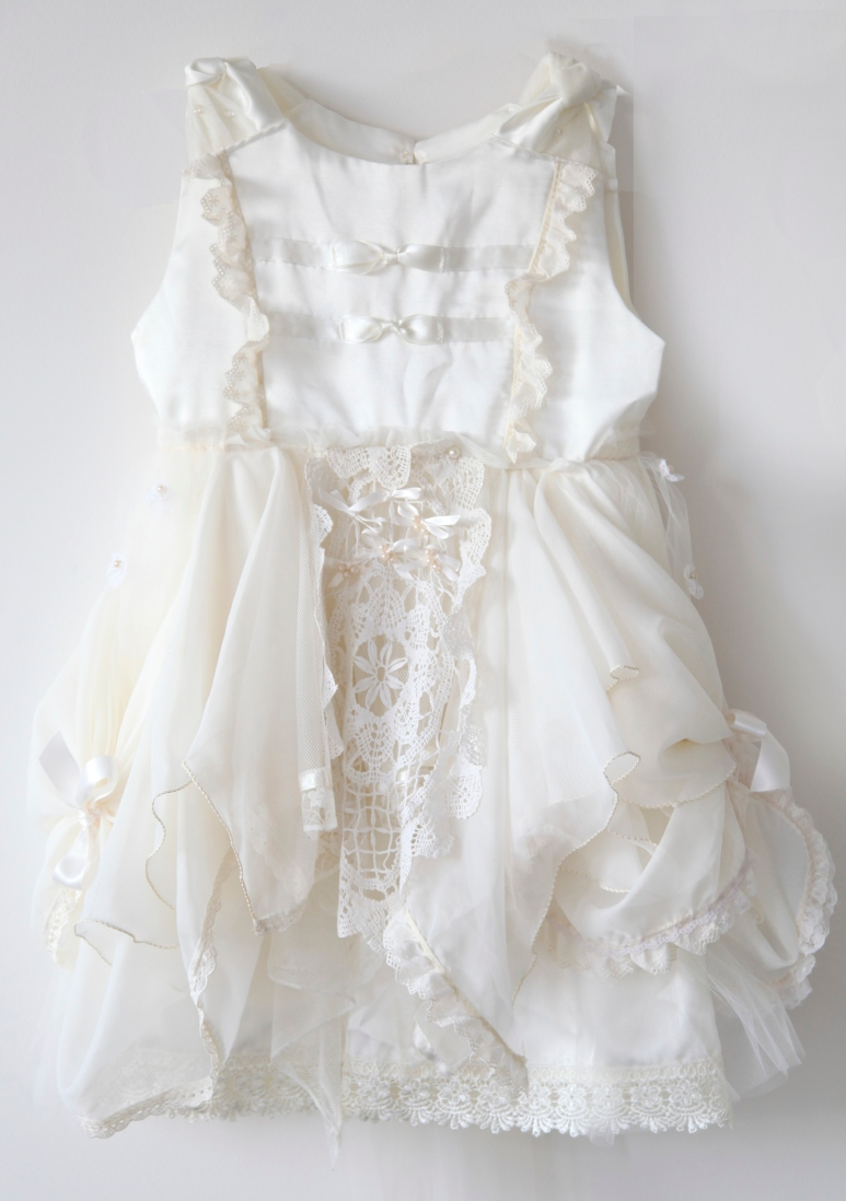 Vicky Lee Couture White Flowergirl Dress